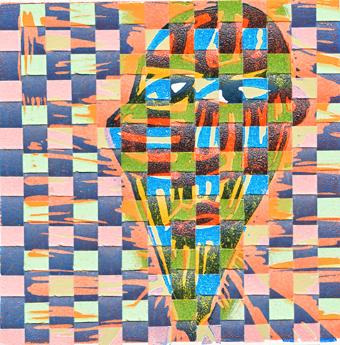 Peter-Ward_Woven-Head_2016_12x12cm_woven-linocut-1