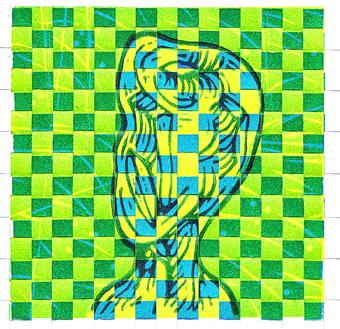 Peter-Ward_Woven-Tune-1_2017_15x15cm_woven-linocut-1